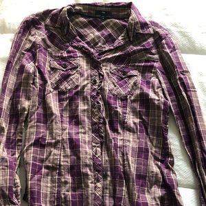 Purple Long sleeve button down
